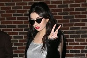 Celebrities making an appearance on the 'Late Show With David Letterman' in New York City, New York on December 16, 2014.<br /> <br /> Pictured: Charli XCX