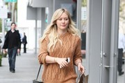 Actress and singer Hilary Duff is spotted out and about in Beverly Hills, California on January 26, 2014. The busy mother of one is currently splitting her time between Los Angeles and New York, where she has been filming the upcoming TV series, 'Younger.'