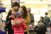 'Sin City' actress Jessica Alba takes her daughters Honor and Haven shopping for toys at Tom's Toys in Beverly Hills, California on January 10, 2015. Jessica and her family just returned from a trip to Mexico where they enjoyed soaking up the warm sun during this cold winter.