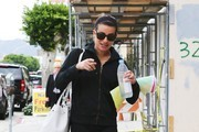 Actress Lea Michele heads to a yoga class in Los Angeles, California on December 11, 2014. Lea has been busy filming the sixth and final season of her hit TV show 'Glee.'
