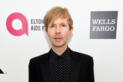 Musician Beck attends the 23rd Annual Elton John AIDS Foundation Academy Awards Viewing Party on February 22, 2015 in Los Angeles, California.