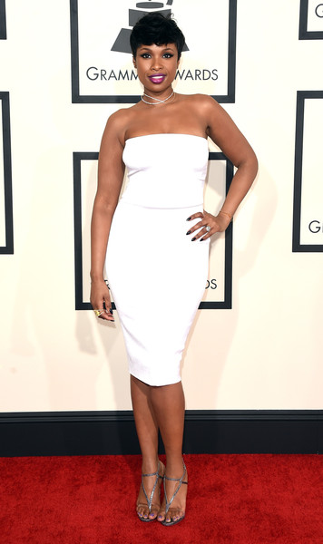 Actress/singer Jennifer Hudson attends The 57th Annual GRAMMY Awards at the STAPLES Center on February 8, 2015 in Los Angeles, California.