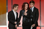 (L-R) Singer Hunter Hayes, singer Rosanne Cash and Jakob Cash appear onstage during the The 57th Annual GRAMMY Awards Premiere Ceremony at Nokia Theatre L.A. Live on February 8, 2015 in Los Angeles, California.