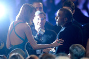 Singer Taylor Swift (L) and rapper Kanye West attend The 57th Annual GRAMMY Awards at the at the STAPLES Center on February 8, 2015 in Los Angeles, California.