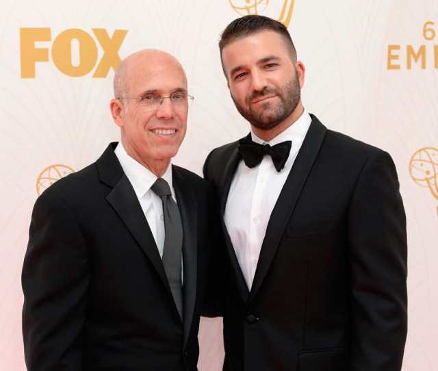 Jeffrey Katzenberg David Katzenberg 67th Annual Primetime Emmy Awards Executive Arrivals