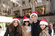 "Actors Maia Mitchell, Italia Ricci, David Lambert and Cierra Ramirez attend ABC's ""25 Days Of Christmas"" Celebration at Cucina at Rockerfellar Center on December 7, 2014 in New York City."