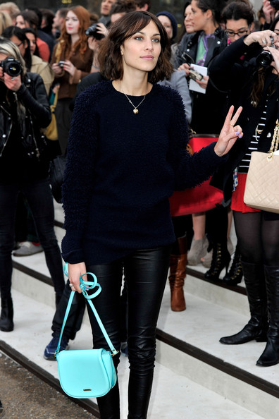 Alexa Chung - Burberry Prorsum Arrivals - LFW Autumn/Winter 2011