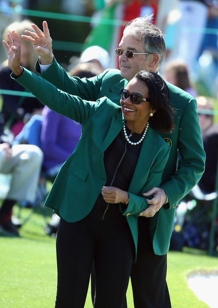 Billy Payne Condoleezza Rice, former Secretary of State and current Augusta National Member, and Billy Payne, Chairman of Augusta National Golf Club, are pictured together during the Drive, Chip and Putt Championship at Augusta National Golf Club on April 5, 2015 in Augusta, Georgia.