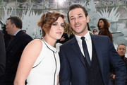 (L-R) Kristen Stewart and Gaspard Ulliel attend the Chanel show as part of Paris Fashion Week Haute Couture Spring/Summer 2015 on January 27, 2015 in Paris, France.