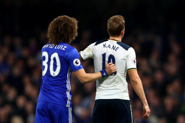 David Luiz in Chelsea v Tottenham Hotspur - Premier League ...