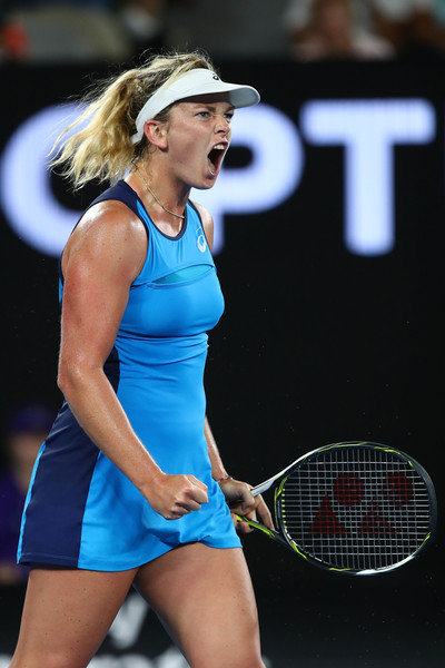 The ferocious Coco Vandeweghe made her maiden appearance at a Grand Slam SF.