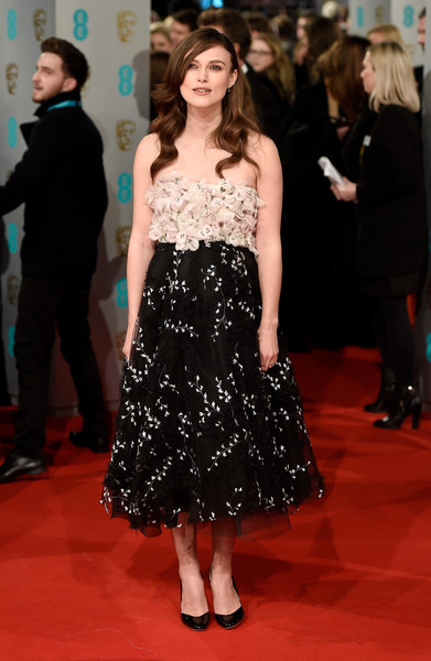 Keira Knightley attends the EE British Academy Film Awards at The Royal Opera House on February 8, 2015 in London, England.