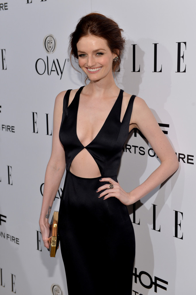 lydia hearst 2014 black cut out dress