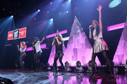 (L-R) Dinah Jane Hansen, Normani Kordei Hamilton, Ally Brooke Hernandez, and Camila Cabello of Fifth Harmony performs on the Honda Stage at iHeartRadio Theater on February 5, 2015 in Burbank, California.