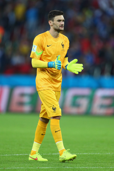 Hugo Lloris of France gestures during the 2014 FIFA World Cup Brazil Group E match between France and Honduras at Estadio Beira-Rio on June 15, 2014 in Porto Alegre, Brazil.