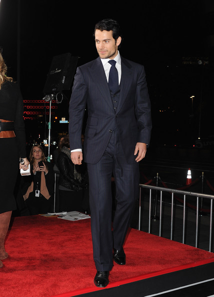 "Henry Cavill Actor Henry Cavill arrives at Relativity Media's ""Immortals"" premiere presented in RealD 3 at Nokia Theatre L.A. Live on November 7, 2011 in Los Angeles, California."