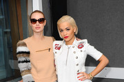 Iggy Azalea and Rita Ora attend KISS FM's Studio's to chat with Melvin O'Doom and Ricky Haywood Williams on September 18, 2014 in London, England. Rita & Iggy's interview will be broadcasted on KISS Breakfast 6am - 9am on 19th September 2014.
