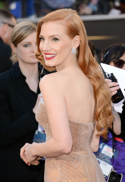 Jessica Chastain Actress Jessica Chastain arrives at the Oscars at Hollywood & Highland Center on February 24, 2013 in Hollywood, California.