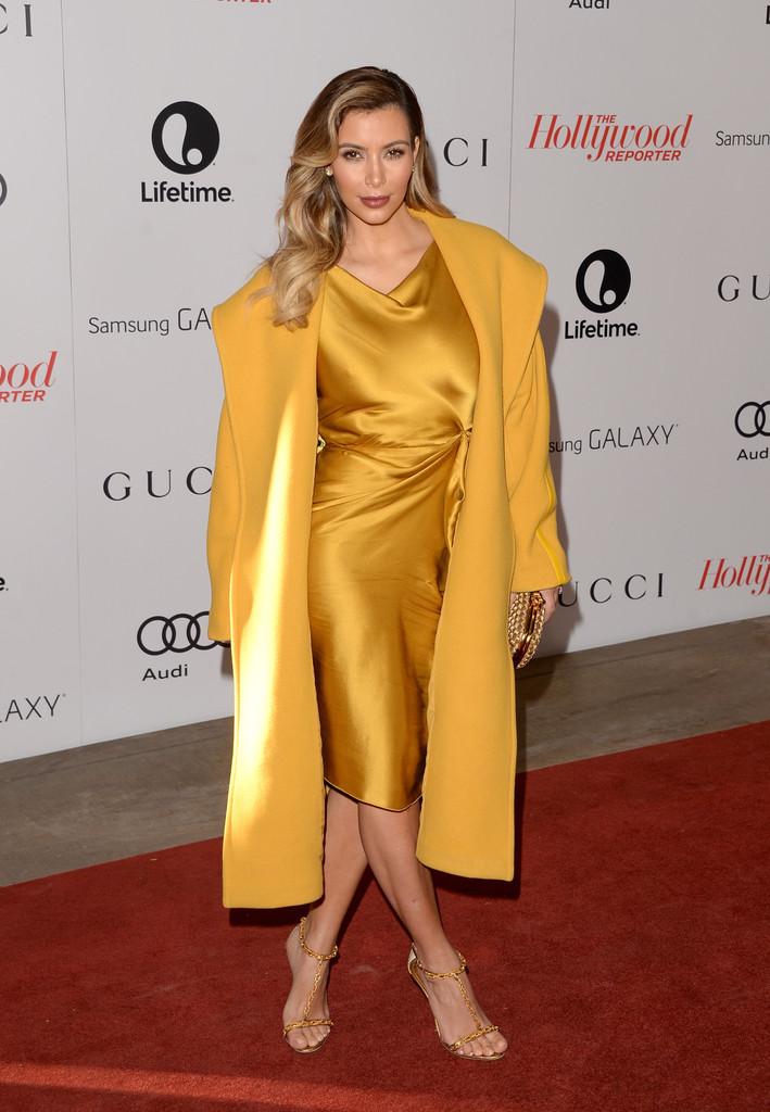 kim kardashian in canary yellow