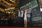 (from left) Producer Andrew Form,  Producer Brad Fuller, Actress Megan Fox and Director Jonathan Liebesman attend the Premiere of Paramount Pictures' 'TEENAGE MUTANT NINJA TURTLES' at CGV Yeoido, on August 26, 2014 in Seoul, South Korea.