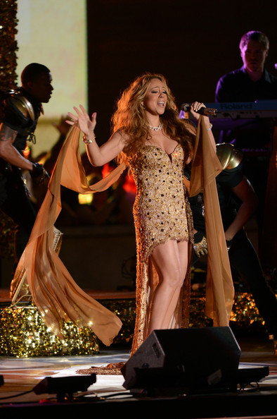 Mariah Carey Singer Mariah Carey performs onstage during the 2012 NFL Kick-Off Concert in Rockefeller Center on September 5, 2012 in New York City.