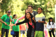 Actors Kira Kosarin, Jack Griffo, Sydney Park and Tylen Jacob Williams attend Nickelodeon's 11th Annual Worldwide Day of Play at Prospect Park on September 20, 2014 in New York City.