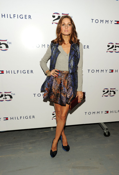Olivia Palermo Olivia Palermo poses at the Tommy Hilfiger Spring 2011 fashion show during Mercedes-Benz Fashion Week at The Theater at Lincoln Center on September 12, 2010 in New York City.