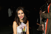 Victoria Justice attends the Rebecca Minkoff fashion show during Mercedes-Benz Fashion Week Fall 2015 at The Pavilion at Lincoln Center on February 13, 2015 in New York City.