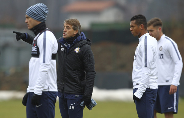 Roberto Mancini - FC Internazionale Training Session
