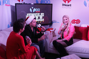 Singer/songwriter Meghan Trainor is interviewed at Y100's Jingle Ball Village, Y100's Jingle Ball 2014 official pre-show at BB&T Center on December 21, 2014 in Miami, FL.