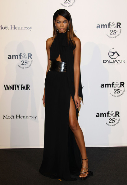 Model Chanel Iman attends amfAR MILANO 2011 at La Permanente on September 23, 2011 in Milan, Italy.