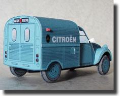 Papercraft del coche Citroen 2cv AZU. Manualidades a Raudales.