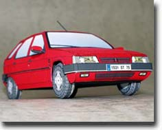 Papercraft recortable y armable del coche Citroen ZX Club 1.8i. Manualidades a Raudales.