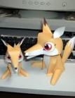Papercraft de un zorro / fox. Manualidades a Raudales.
