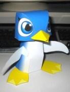 Papercraft de un pingüino / pengin.