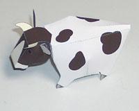 Papercraft imprimible y armable de una vaca / cow. Manualidades a Raudales.