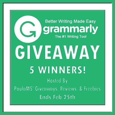 On February 25th (5) Five lucky readers will win (1) one month of #Grammarly premium service #Giveaway