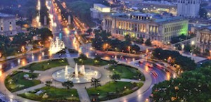 The Philadelphia Museum Art crowns the city's illuminated Benjamin Franklin Parkway. The culturally rich stretch is home to many parks, public works of art and museums, including Swann Memorial Fountain (pictured), the Barnes Foundation, the Rodin Museum, The Franklin Institute, The Academy of Natural Sciences, Sister Cities Park and many other attractions.