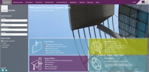 Intranet style entry point to the system providing business and project specific news & information