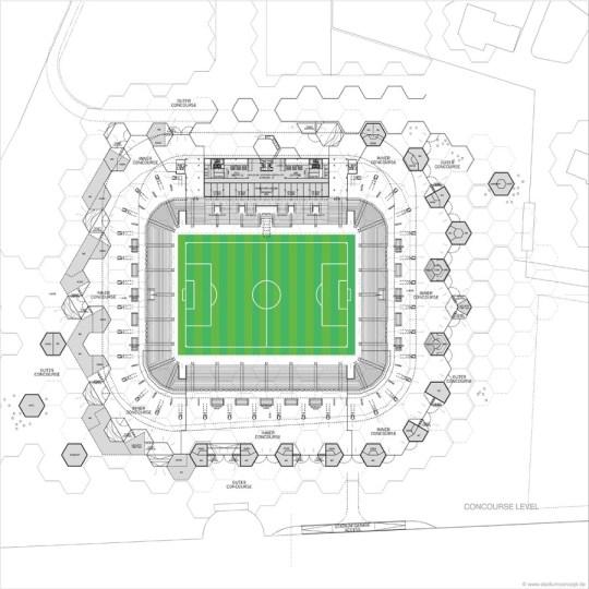 Bursa stadium concourse level