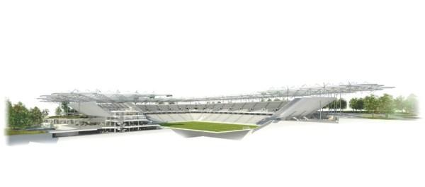 Bursa stadium perspective