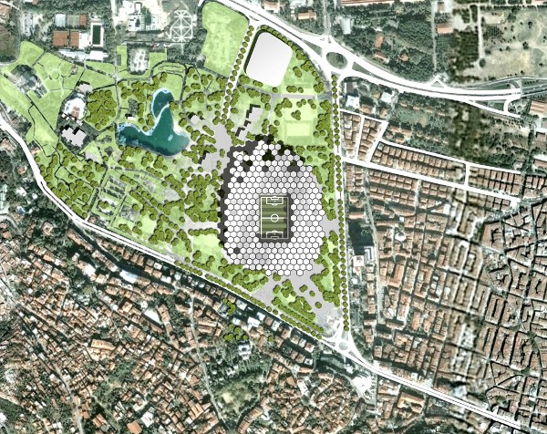 Bursa stadium location map