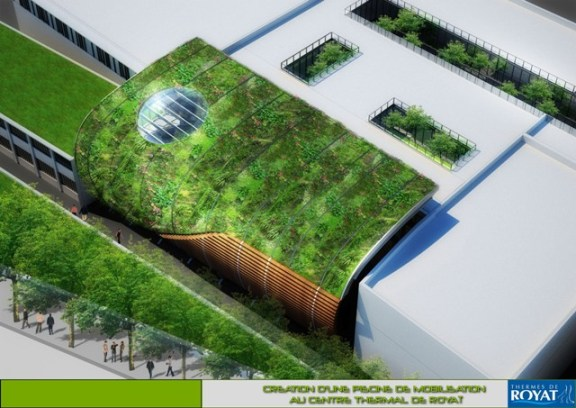 Axonometric view - green roof