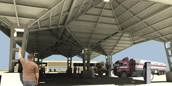 Canopy of Nassiriyah Truck Stop