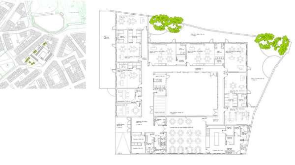 kindergarten 8 units in almeria  spain by los del desierto