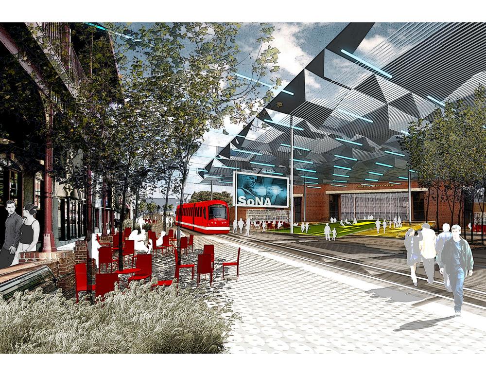 Fayetteville 2030 Transit City Scenario In Fayetteville
