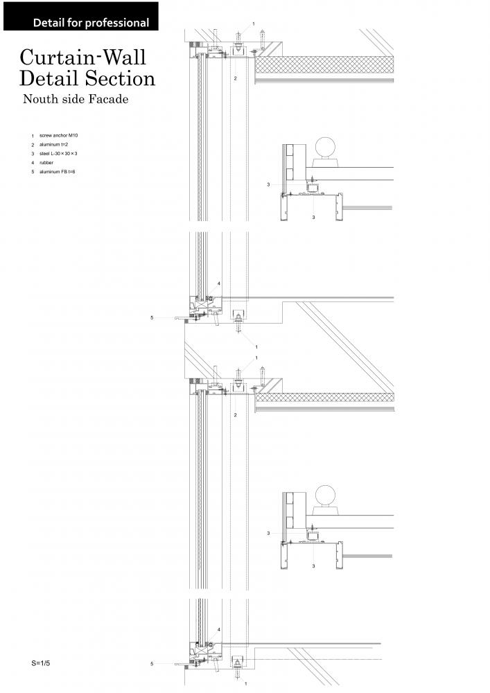 Rest Villa Funabori In Tokyo An By Jun Ichi Ito Architect Associates 02 Curtain Wall Detail Section Pdf Page 0