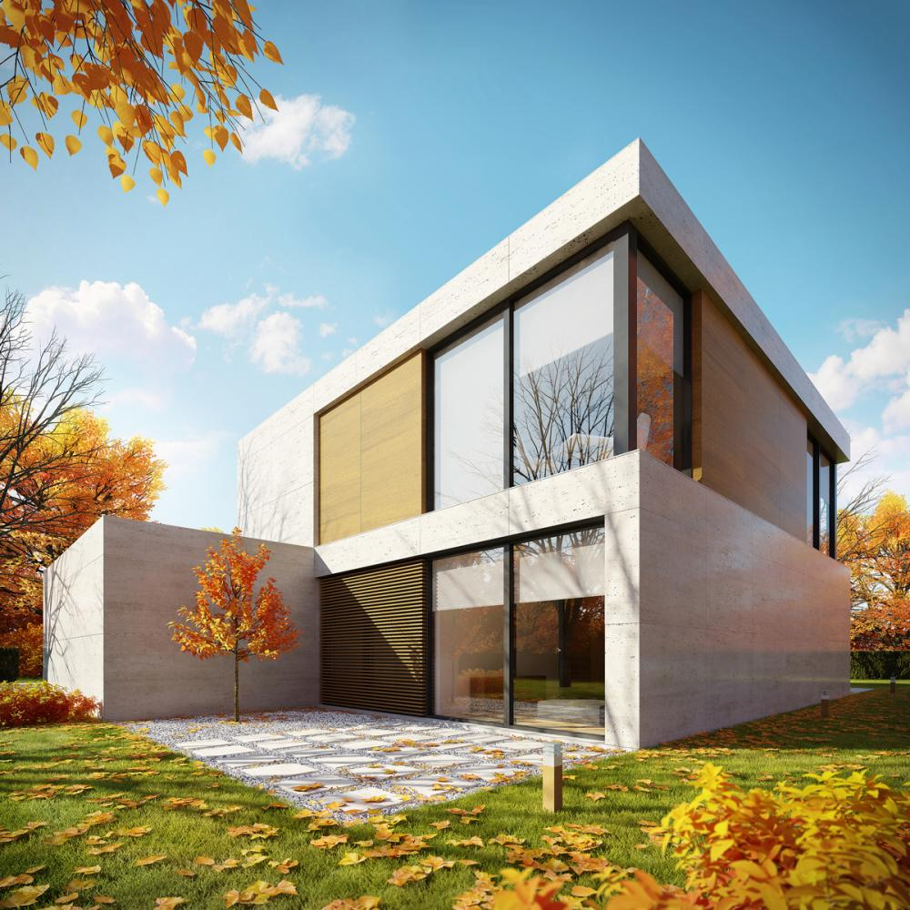 The square house in belgium france by starh stanislavov for Modern house building
