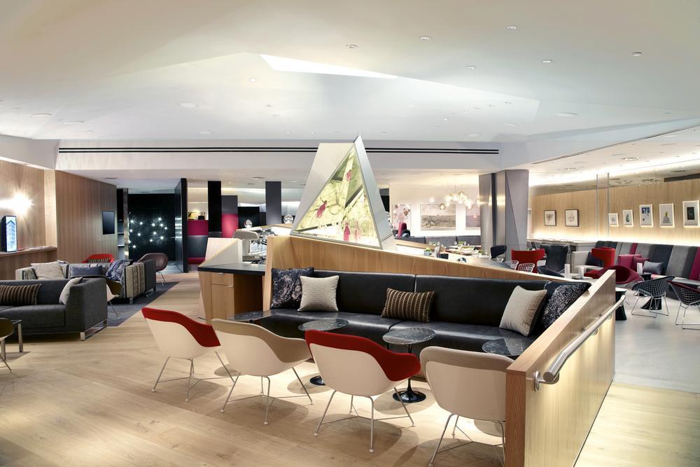 Virgin Atlantic EWR Clubhouse In Newark, New Jersey By SLADE