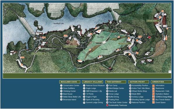 Long Range Master Plan for Summit Core,  Image Courtesy © Mithun